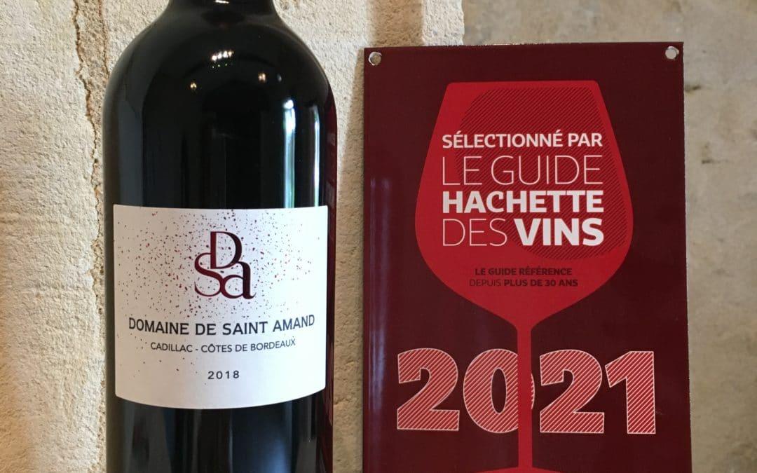 Une étoile au Guide Hachette des vins 2021 pour le rouge millésime 2018 DSA du Domaine de Saint Amand